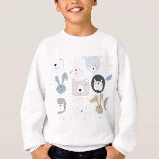 Cute cartoon teddy bear toddler and rabbit bunny sweatshirt