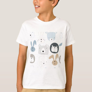 Cute cartoon teddy bear toddler and rabbit bunny T-Shirt