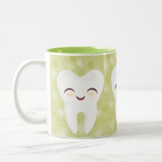 Cute Cartoon Teeth - Green Gift Mug