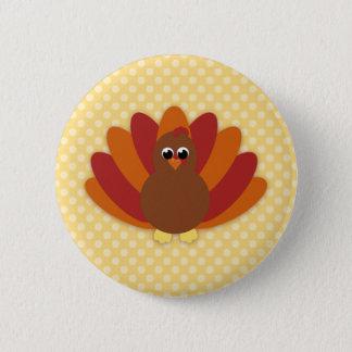 Cute Cartoon Thanksgiving Turkey Buttons
