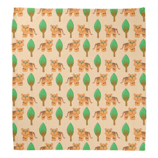 Cute Cartoon Tiger Pattern Bandana