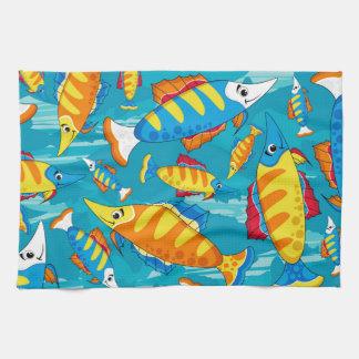 Cute Cartoon Tropical Fish Pattern Towel