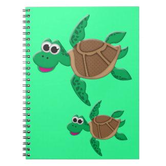 Cute Cartoon Turtle Notebook