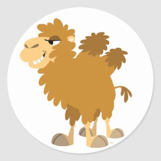 Cute Cartoon Two-Humped Camel Sticker