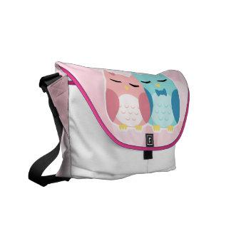 cute cartoon vector owl couple commuter bag