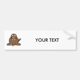Cute Cartoon Walrus Bumper Sticker