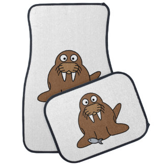 Cute Cartoon Walrus Car Mat