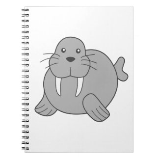 Cute Cartoon Walrus Note Book