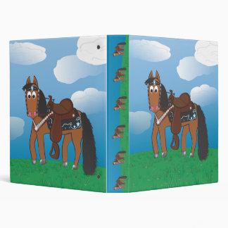 Cute Cartoon Western Horse 3 Ring Binders