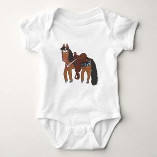 Cute Cartoon Western Horse Baby Bodysuit
