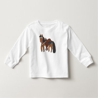 Cute Cartoon Western Horse Toddler T-shirt