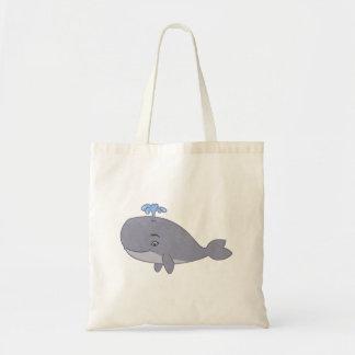 Cute Cartoon Whale Tote Bag