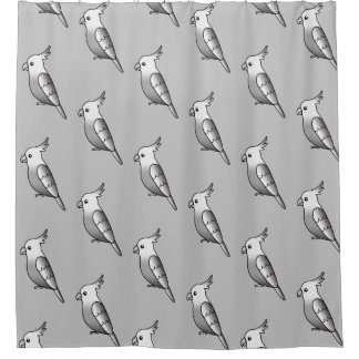 Cute Cartoon Whiteface Cockatiel Bird Pattern