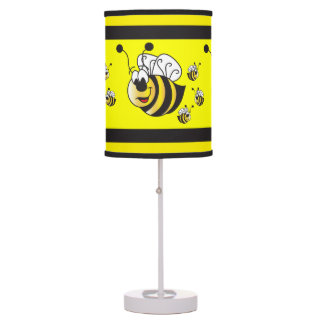 Cute Cartoon Yellow Bumble Bee Table Lamp