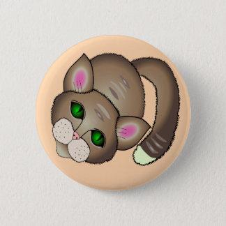 cute cat 2 inch round button