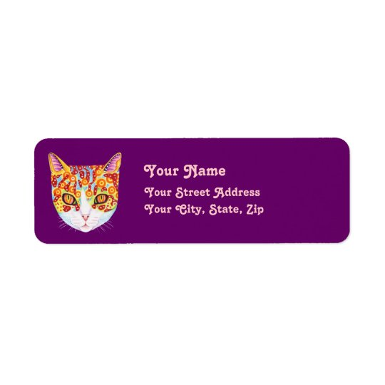 Cute Cat Address Labels