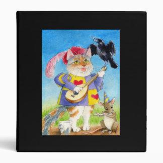 Cute cat, bird & mouse musicians Binder