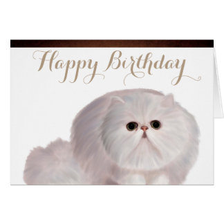 Cute Cat Birthday Greeting Card