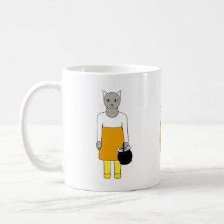 Cute Cat Candy Corn Trick-or-Treater Mug