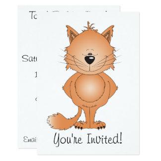 Cute Cat Cartoon Card