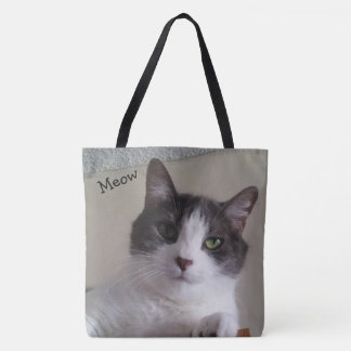 Cute Cat Close up Picture Tote Bag