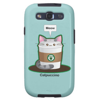 Cute Cat Coffee Samsung Galaxy S3 Covers