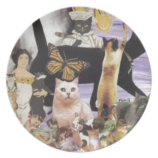Cute Cat Collage 4 Plate