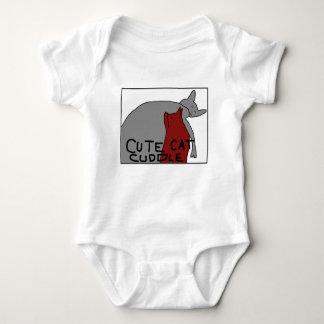 Cute Cat Cuddle Baby Bodysuit
