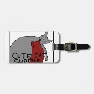 Cute Cat Cuddle Luggage Tag