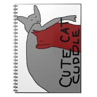 Cute Cat Cuddle Spiral Notebook