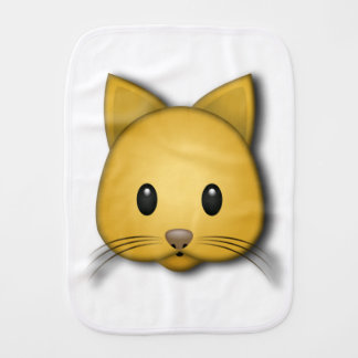Cute Cat Emoj Style Design Burp Cloth