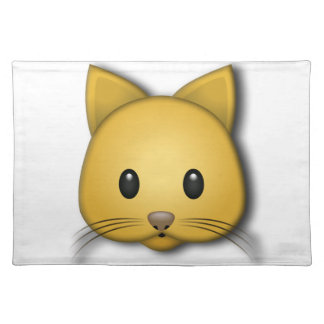 Cute Cat Emoj Style Design Placemat