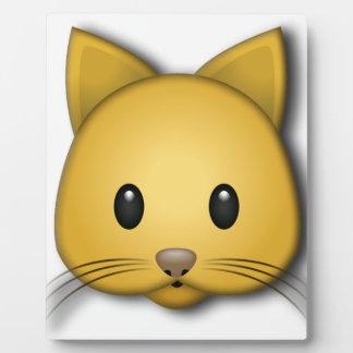 Cute Cat Emoj Style Design Plaque