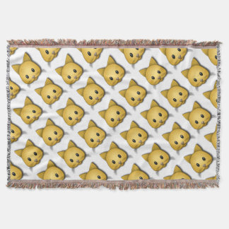 Cute Cat Emoj Style Design Throw Blanket