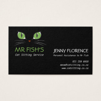 Cute Cat Eyes Pet Care Cat Business Business Card