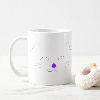 Cute Cat Face - multicolor Coffee Mug