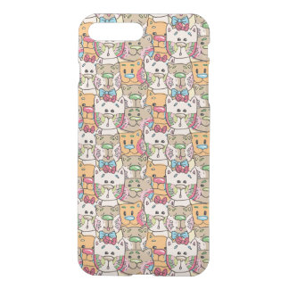Cute Cat Face Pattern iPhone 8 Plus/7 Plus Case