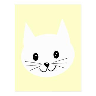Cute Cat Face. Postcard