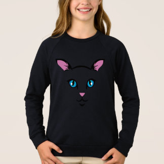 cute cat face sweatshirt