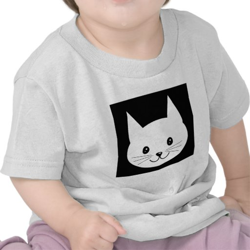 Cute Cat Face. Tshirts