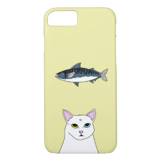 Cute Cat Fish cartoon iPhone Case