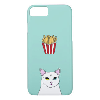 Cute Cat French Fries cartoon iPhone Case