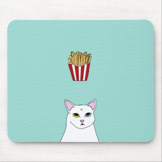 Cute Cat French Fries cartoon Mouse Pads