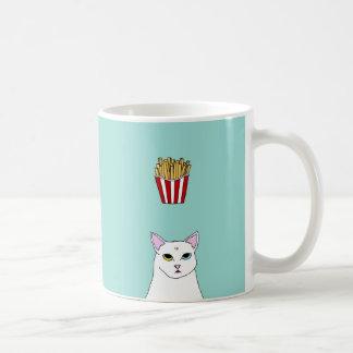 Cute Cat French Fries cartoon Mug