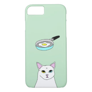 Cute Cat Fried Egg cartoon iPhone Case