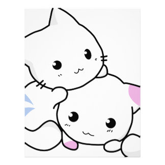 Cute cat friends letterhead