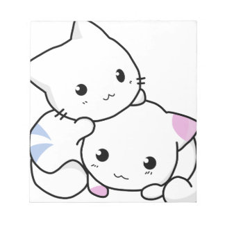 Cute cat friends notepad