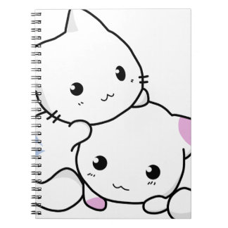 Cute cat friends spiral notebooks
