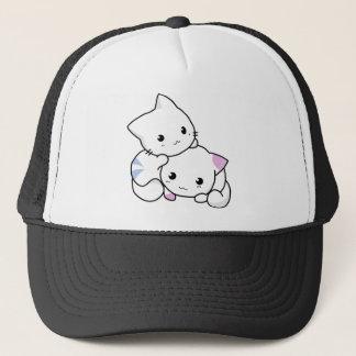 Cute cat friends trucker hat
