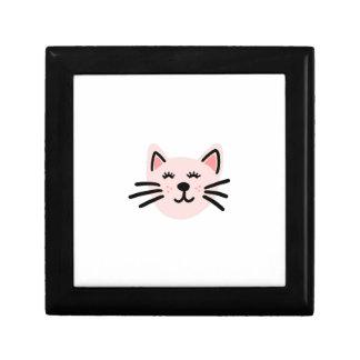 Cute cat illustration gift box